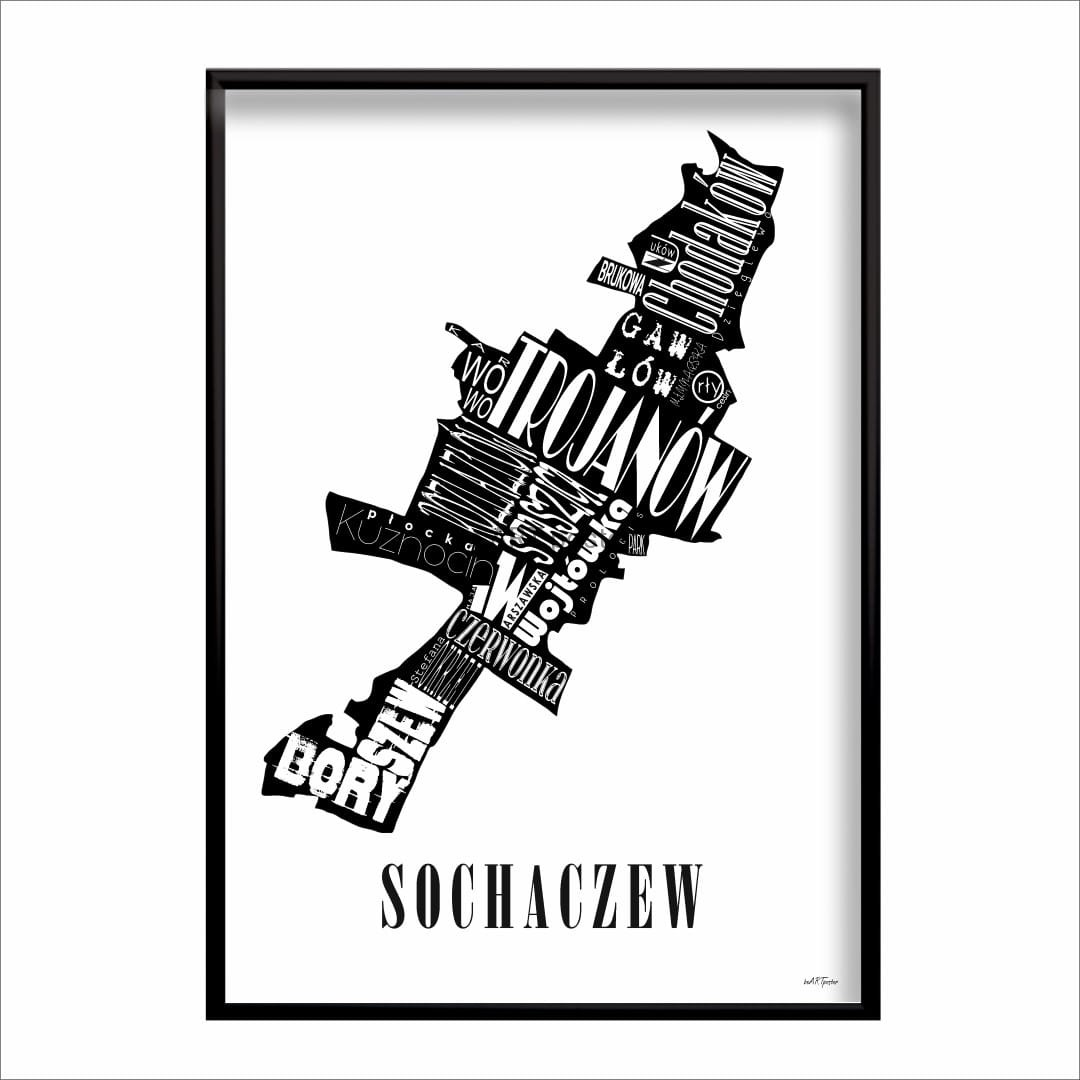 Mapa Sochaczew Beartposter