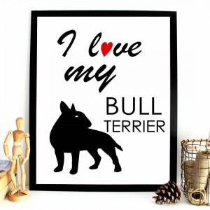 I love my bullterrier