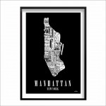 mapa Manhattan New York - BLACK
