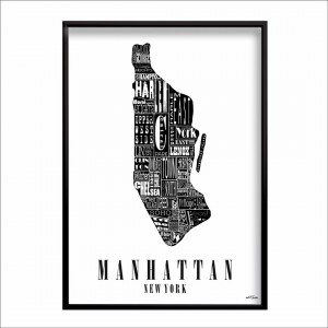 mapa Manhattan New York